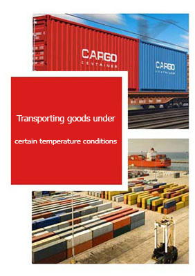 Transporting goods under certain temperature conditions